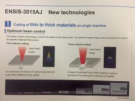 Amada ENSIS 3kw Fiber Laser - High speed processing of thin to thick material  - picture12' - Click to enlarge