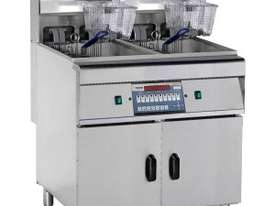F.E.D Electric Fryer with Cold Zone - Computerized Double Vat DZL-28-2 - picture0' - Click to enlarge