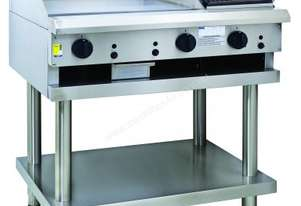 Luus CS-6P3C 600mm grill, 300mm Chargrill & Shelf Professional Series