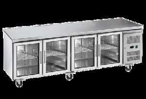 Exquisite USC550G Four Glass Door Underbench Fridge