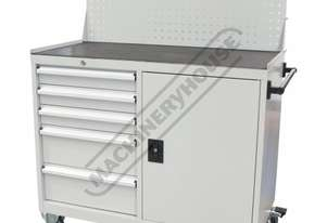 WTC-1450 Industrial Mobile Tooling Cabinet Workstation 1170 x 580 x 1450mm 100kg per Drawer
