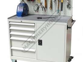 WTC-1450 Industrial Mobile Tooling Cabinet Workstation 1170 x 580 x 1450mm 100kg per Drawer - picture2' - Click to enlarge