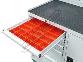 WTC-1450 Industrial Mobile Tooling Cabinet Workstation 1170 x 580 x 1450mm 100kg per Drawer - picture6' - Click to enlarge
