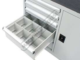 WTC-1450 Industrial Mobile Tooling Cabinet Workstation 1170 x 580 x 1450mm 100kg per Drawer - picture8' - Click to enlarge