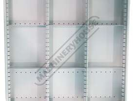 WTC-1450 Industrial Mobile Tooling Cabinet Workstation 1170 x 580 x 1450mm 100kg per Drawer - picture18' - Click to enlarge