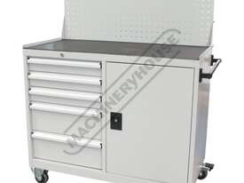 WTC-1450 Industrial Mobile Tooling Cabinet Workstation 1170 x 580 x 1450mm 100kg per Drawer - picture0' - Click to enlarge