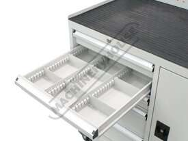 WTC-1450 Industrial Mobile Tooling Cabinet Workstation 1170 x 580 x 1450mm 100kg per Drawer - picture7' - Click to enlarge
