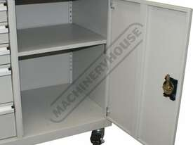 WTC-1450 Industrial Mobile Tooling Cabinet Workstation 1170 x 580 x 1450mm 100kg per Drawer - picture5' - Click to enlarge