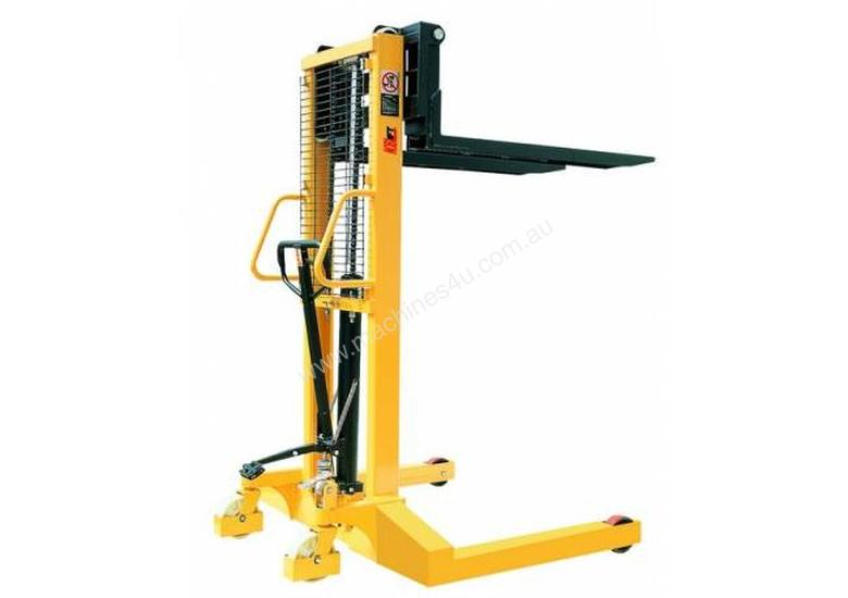MANUAL STACKER LIFTER EXTRA WIDE 1T LIFT HEIGHT 1600MM