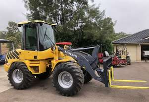 Volvo Wheel Loader Tool Carrier with Forks and GP Bucket