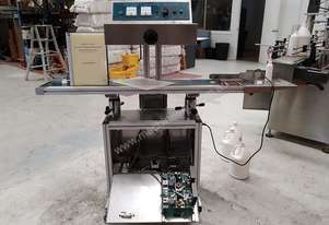 Air cooled continuous electromagnetic induction sealing machine (tamper proof foil)