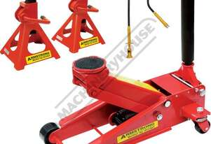TJA-2S Professional Hydraulic Steel Trolley Jack & Axle Stands Package Deal Jack - 2000kg (2 Tonne)