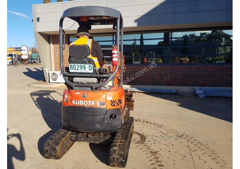 2017 KUBOTA U17-3 EXCAVATOR WITH QUICK HITCH, BUCKETS AND LOW 790 HOURS