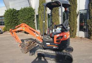 2017 KUBOTA U17-3 EXCAVATOR WITH QUICK HITCH, BUCKETS AND LOW 797 HOURS