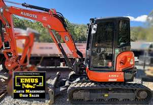 2018 Kubota U55-4, 800hrs, attachments, like new.  MS567