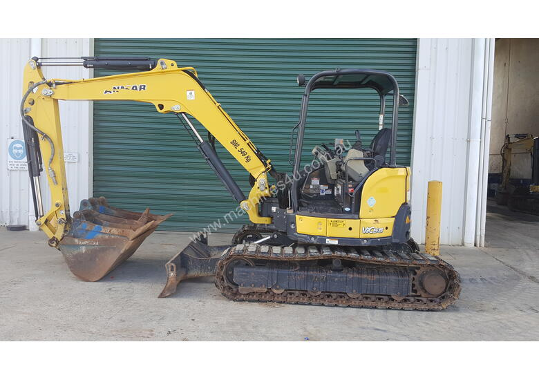 Used Yanmar VIO55-6B Open Cab Excavator, With Full Set of Buckets.
