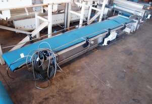 Flat Belt Conveyor, 3300mm L x 380mm W x 350mm H