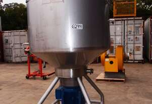 Scrape Surface Jacketed Mixing Tank, Capacity: 1,000Lt