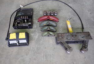 Pipe bender, punch and hydraulic pump