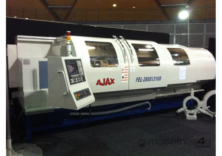New Ajax 610mm, 720mm & 800mm Flat Bed CNC Lathes