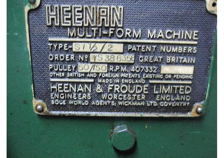 Heenan Multi-Form Machine