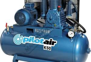 K50 Industrial Air Compressor 268 Litre / 10hp 39.6cfm /1120lpm Displacement