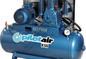 K50 Industrial Pilot Air Compressor 268 Litre / 10hp 39.6cfm /1120lpm Piston Displacement