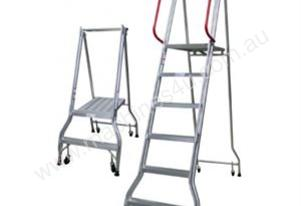 6 Steps Industrial Ladder 1690mm Platform  Height
