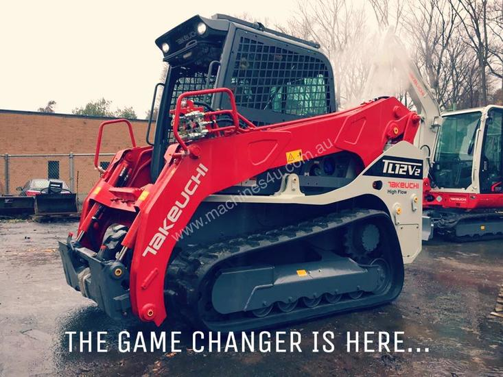 NEW TAKEUCHI TL12V2 6T 113HP VERTICAL LIFT TRACK LOADER
