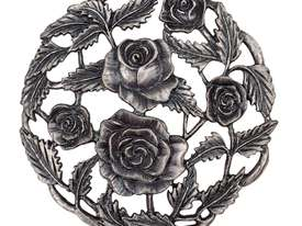 Pewter Lid - Roses - picture2' - Click to enlarge