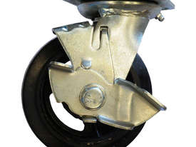 42086 - RUBBER MOULDED IRON WHEEL CASTOR(SWIVEL/BRAKE) - picture0' - Click to enlarge