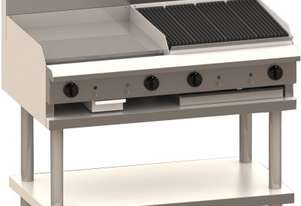 Luus CS-6P6C 600mm Grill, 600mm Chargrill & Shelf Professional Series