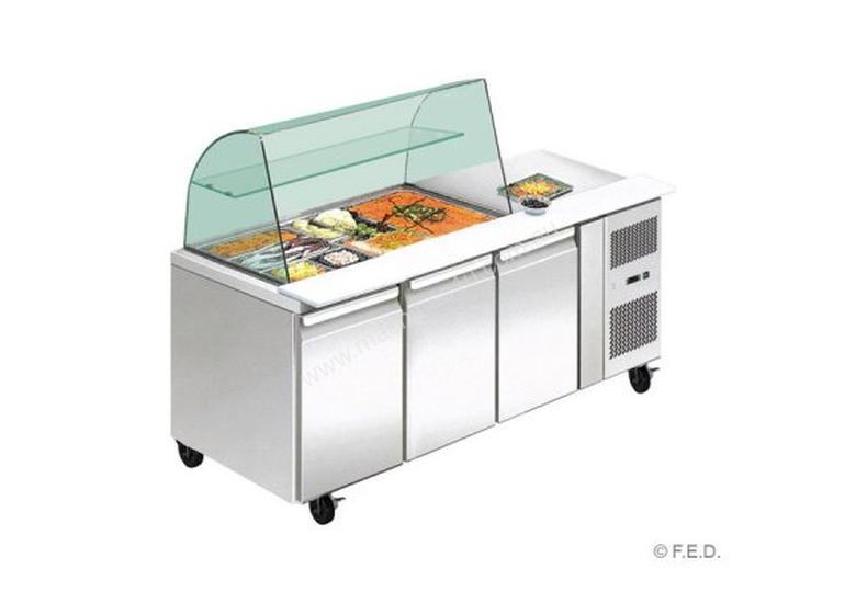 F.E.D. THP2100SALGC two door DELUXE Salad Bar