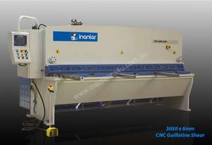 INANLAR 3050 x 6mm CNC Hydraulic Guillotine Shear with controller arm