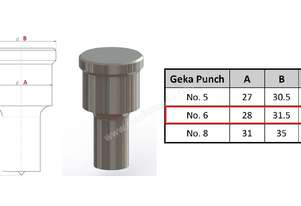 No. 6 Round Punch for Geka Iron Worker