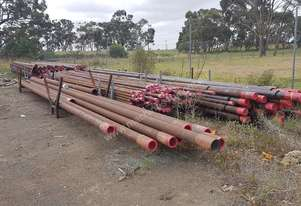 STEEL PIPE 135mm outer diameter x 8mm wall thickness x 12100mm long