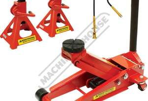 TJA-25S Professional Hydraulic Steel Trolley Jack & Axle Stands Package Deal Jack - 2500kg (2.5 Tonn