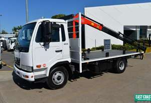 2010 NISSAN UD MK5 Tray Top Crane Truck