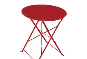 WD-S105TR Bistro Table Folded Round 600mm Red