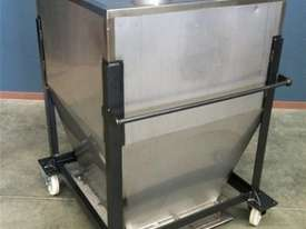 750ltr Stainless Steel Hopper With Bottom Sliding Tray - picture0' - Click to enlarge