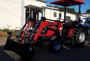 Case IH 37hp 4wd tractor with 4in1 loader