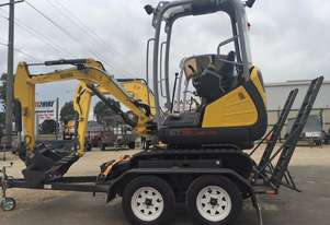 Wacker Neuson ET18 VDS Mini Excavator on 3t Trailer