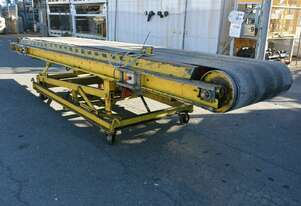 Powered 4650 long rubber 910(w) belt Conveyor adjustable height & angle 3 phase