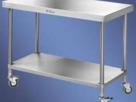 1800mm w x 600mm d x 900mm h (64kg) Simply Stainle