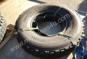 1 x 12.00R x 24 18 Ply Tyre, Tube & Sleeve