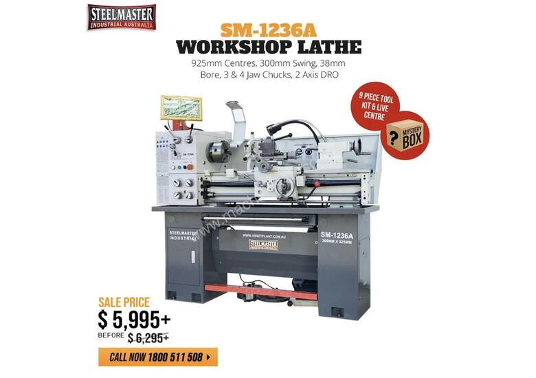The Best Valued & Featured Packed 240Volt Lathe In Australia