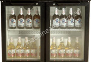 2 Glass Door Back Bar Bottle Cooler ERMU-250C SS