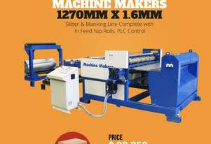 Cut To Length & Slitting Lines 1270mm x 1.5mm Capacity With 6 Slitting Heads