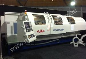 Ajax Flat Bed CNC Lathes Live Tooling & C axis