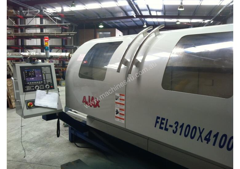 Ajax Flat Bed CNC Lathes opt. Live Tooling & C axis